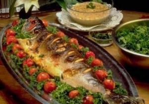 طريقة عمل السمك البورى المشوى فى الفرن